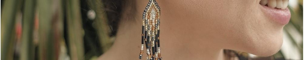 Hiilos : boucles d'oreilles ethniques en perles