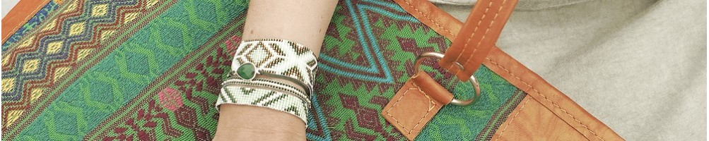 Hiilos : TIKAL is an Ethnic Tote bag. Available in Brown or Green Oran
