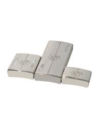 Fermoir Aimanté Argenté Rhodié pour Bracelet 3 Tailles